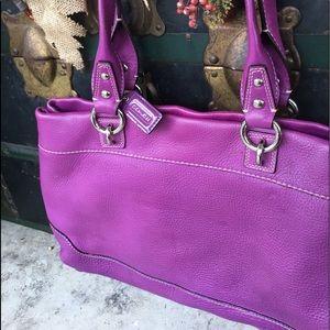 Purple Coach bag ( new )